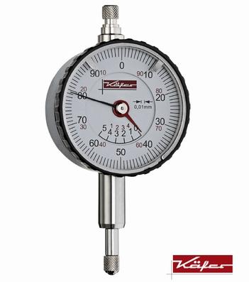 Mechanical dial gauge KMU4/5 TK-100, 5/1/0,01 mm, Ø40 mm