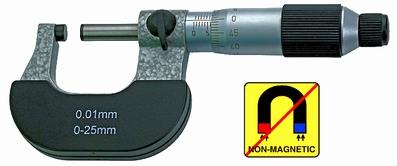 Outside micrometer,  Ø6.5 mm, 0.5mm, 0~25 mm