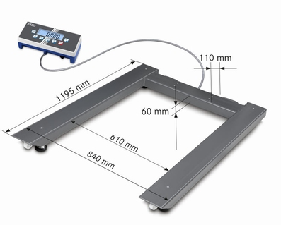 Floor scale UID, 600|1500kg, 0.2|0.5kg, 1195x840 mm (M)