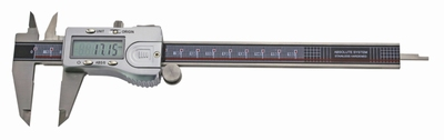 Digital caliper ABS, 150/0,01 mm, 40 mm, 3V, data, rec