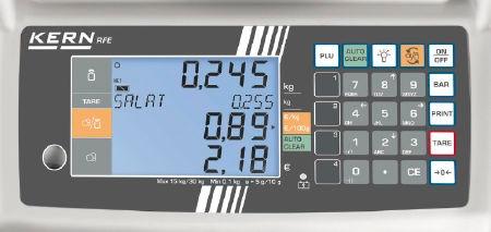 Price scale RFE, 6 / 15 kg, 2 / 5 g, 230x300 mm (M)