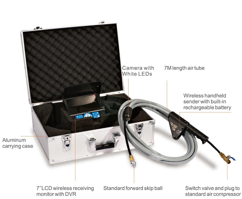 Wireless inspection and cleaning camera, Ø18 mm, L=7 m