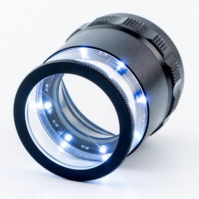 Measuring magnifier KITOTEC KIMAG-10, 10x, 30/0.1 mm, LED