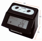 Digital clinometers 55 mm, magnetische zool, 2x90°/0.1°
