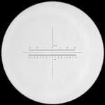 Reticule plate Ø 35 mm, for magnifier 10x, black, n° 14