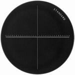 Réticule Ø 35 mm, pour loupes 10x, blanc, gradué 30/0.01 mm