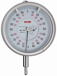 Mechanical dial gauge FM1000/80T, 1/0.2/0.001 mm, Ø80 mm