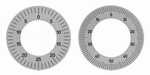 Balanced dial reading for dial gauges ≥ Ø32 mm