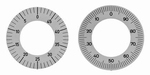 Anti clockwise dial reading for dial gauges ≥ Ø32 mm