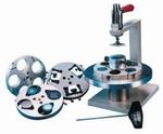 Sample holder for up to 6 samples Ø25 mm, central pressure