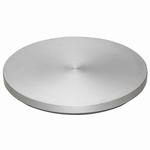 Geanodiseerd aluminium polijstplaat Ø 350 mm