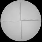 Réticule Ø 35 mm, pour loupes 10x, noir, gradué 30/0.01 mm