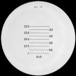 Réticule Ø 35 mm, pour loupes 10x, noir, n° 10