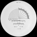 Reticule plate Ø 35 mm, for magnifier 10x, black, n° 12