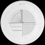 Réticule Ø 35 mm, pour loupes 10x, noir, n° 6