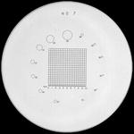 Réticule Ø 35 mm, pour loupes 10x, noir, n° 7