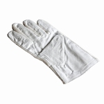 Gloves, leather/cotton, 1 pair