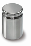 Weight E2, compact cylindrical stainless steel,1 kg ± 1,5 mg