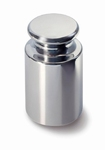 Knop cylindrical weight E2, stainless steel, 10 kg ± 15 mg