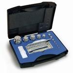 Set cylindrical weight F2, inox, plastic case, 1mg~200g