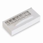 Set weight F2, alu/german silver, plastic case, 1mg~500 mg