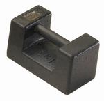 Rectangular weight cast iron lacquered M1, 50 kg ± 2500 mg
