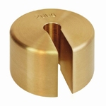 Slotted weight M1, finely turned brass, 2kg ± 100 mg