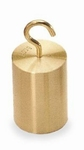 Hook weight M1, finely turned brass, 0,1 N