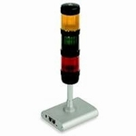Signal lamp for weighing with tolerance range