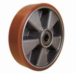 Red polyurethane guiding wheel for VHB pallet truck