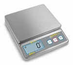 Compact stainless steel scale FOB, 5 kg/1 g, 155x125 mm
