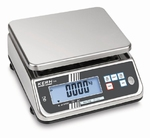 Stainless steel scale FXN, IP68, 6 kg/1 g, 236x195 mm