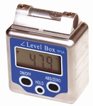 Digital clinometers with magnet & spirit level, 4x90°/0.1°