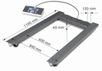 Pallet scale UIB, 1500kg/500g, 1190x840 mm