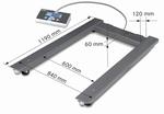 Pallet scale UIB, 3000kg/1000 g, 1190x840 mm