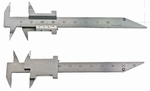 Small vernier caliper, 80 mm, 16/12 mm, 1/10