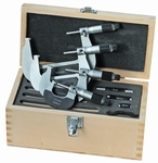 Set 4 outside micrometers,  Ø6.5 mm, 0.5mm, 0~100 mm