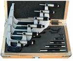 Set 6 outside micrometers,  Ø6.5 mm, 0.5mm, 0~150 mm