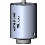 Insert Ø6/63,0 g for ISO 23529/ASTM D 3767, 22±5 kPa