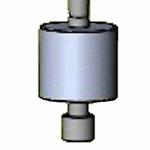 Insert Ø10,0/40,0 g/5±0,5 kPa for DIN EN ISO 2286-3