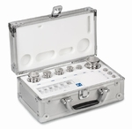 Set of weights E1, stainless steel, alu case, 1g~500g