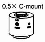 C-mount, coefficient 0.5x (focus adjustable), OLM-1