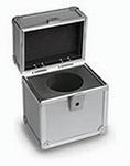 Coffret en aluminium rembouré pour poids individuel 1 g