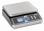 Stainless steel scale FOB-NL, IP67, 3 Kg/0,2 g, 252x200 mm