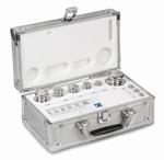 Set cylindrical weight M1, inox, alu case, 1mg~200g