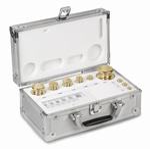 Set cylindrical weight M2, brass, alu case, 1g~10kg