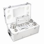 Set cylindrical weight M2, brass, alu case, 1g~5kg