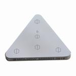 Reference bloc steel 400 HV1, DAkkS, 70x70x70x6 mm