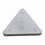 Reference bloc steel 840 HV1, DAkkS, 70x70x70x6 mm