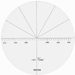 Reticle for microscope 2008-100, angle inch